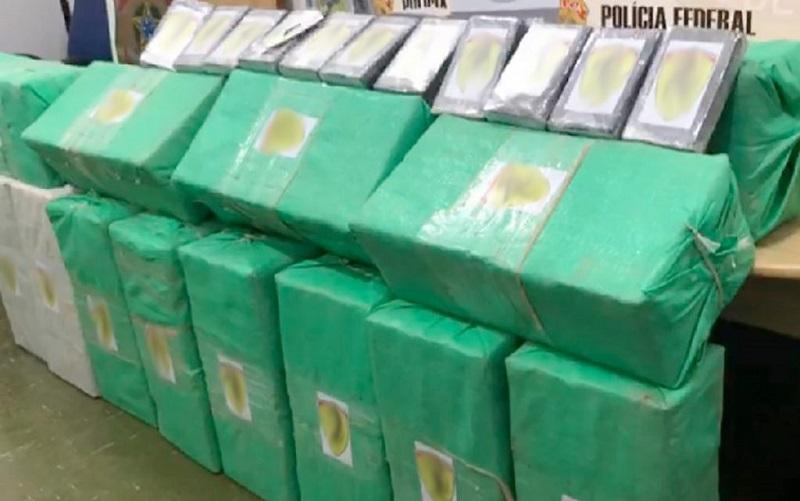 A droga está avaliada em mais de em R$ 8,5 milhões.(Foto:Reprodução)