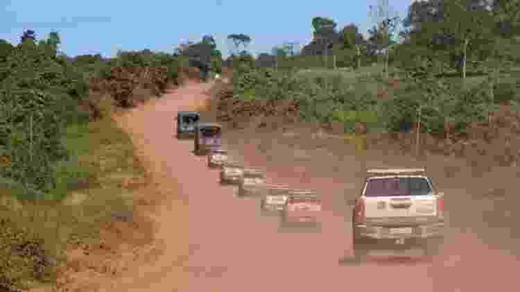 Carros do Exército comandam fiscalização em uma serraria em Uruará (PA) - Arquivo Pessoal - Arquivo Pessoal