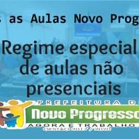 """Novo Progresso """"Volta às Aulas"""" na rede Municipal de ensino em regime especial de aulas não presenciais"""
