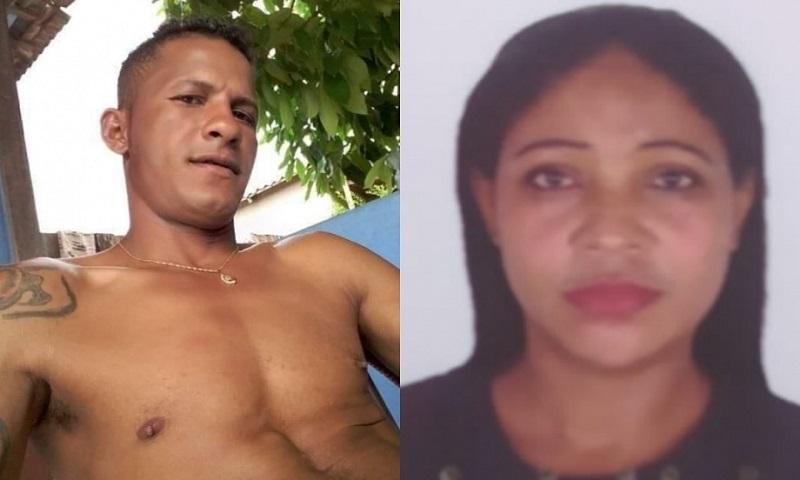 À direita, Luiz França, o principal suspeito, e à esquerda, Ivaete Pereira, a vitima. (Foto: Reprodução)