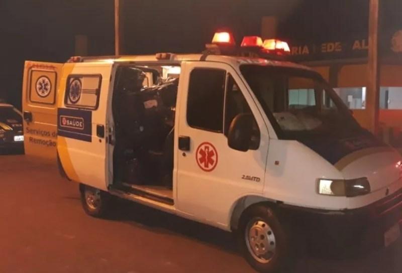 Polícia apreendeu carga escondida dentro de ambulância em MS — Foto: PRF/Divulgação Por Graziela Rezende, G1 MS
