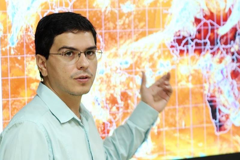 Meteorologista Saulo Carvalho, coordenador do Núcleo de Hidrometeorologia da Semas (Foto:Reprodução)