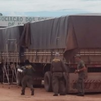 Novo Progresso- Ibama apreende caminhão com carga de madeira em situação irregular