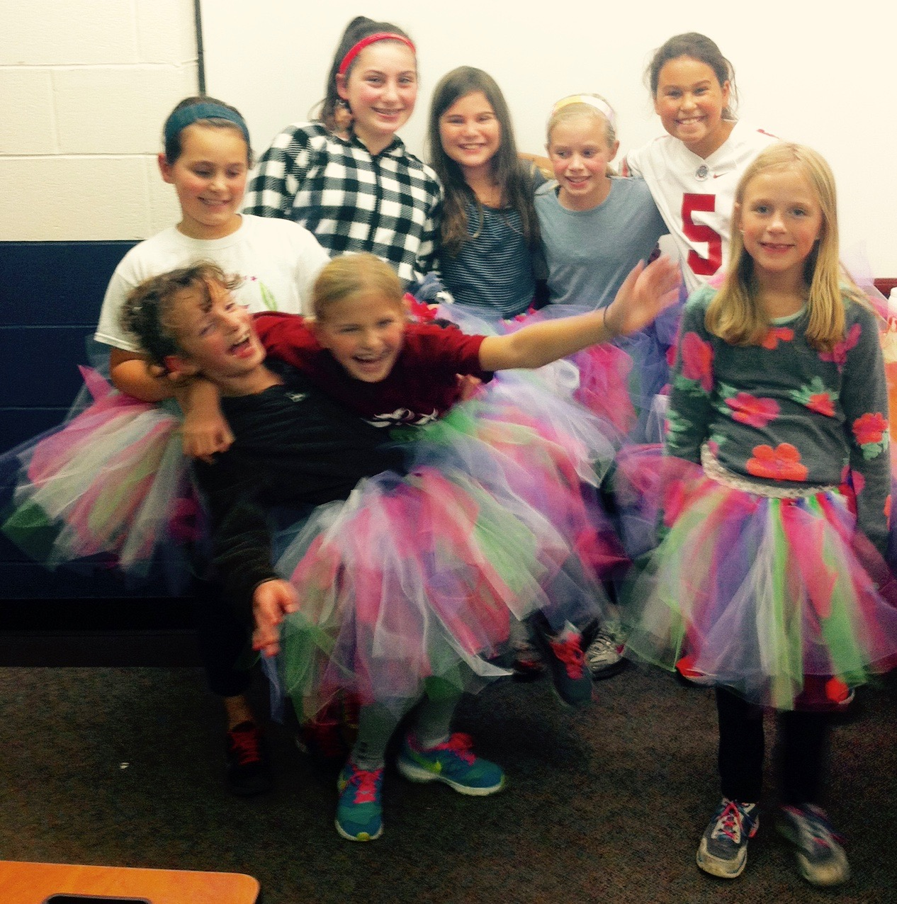 Girls on the Run Fall 2015 making tutus