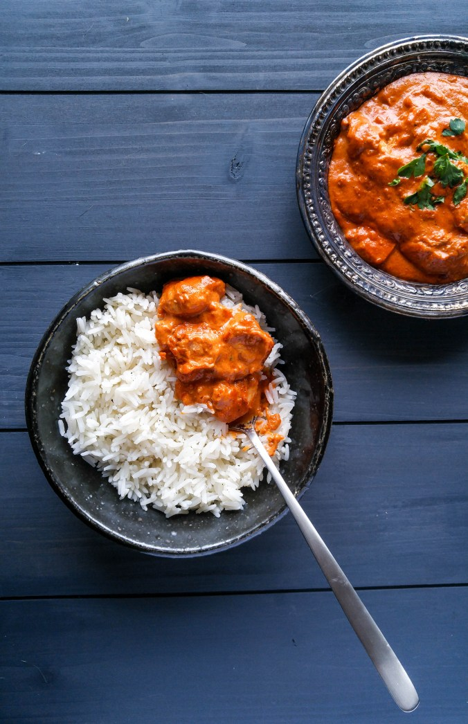Butter Chicken With Gently Spiced Jasmine Rice
