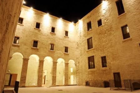 Il cortile interno del Museo Diocesano di Taranto