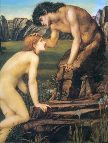 Edward Burne-Jones, Psiche e Pan (1874)