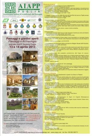 LOCANDINA PAESAGGI E ARCHEOLOGIE 2013