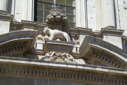 Lecce. Chiesa di Sant'Irene, stemma di Lecce