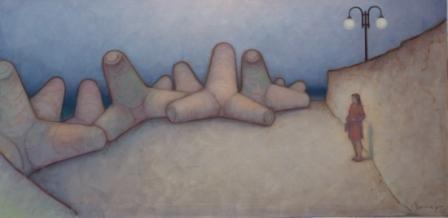 Mare d'inverno 1 ( olio su tela ) cm. 130  x 70
