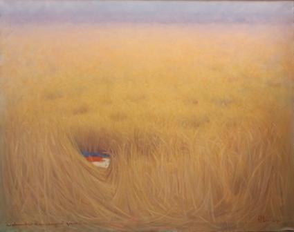 Metamorfosi di un campo di grano 2 ( olio su tela ) cm. 135 x 110