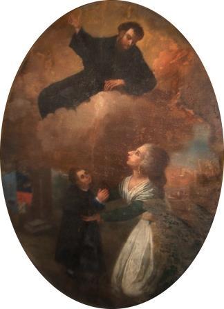 7. S. Lillo (attr.), San Giuseppe da Copertino che appare a una donna e un bambino. Copertino, Convento della Grottella (ph. S. Tanisi)