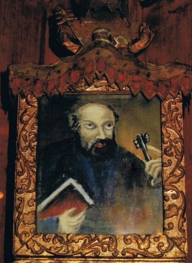 Dipinto con San Pietro, da collezione privata
