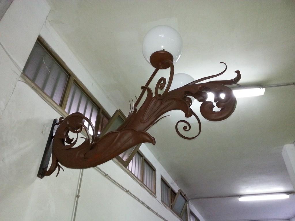 Lampione dopo il restauro