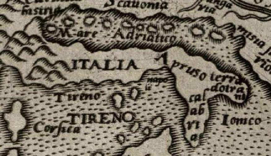 La Terra d'Otranto in una mappa dell'Europa del secolo XVI