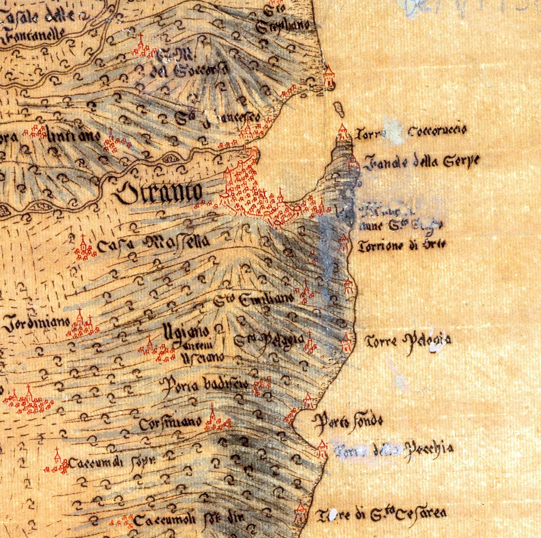 Otranto e dintorni in una carta aragonese del XVI secolo