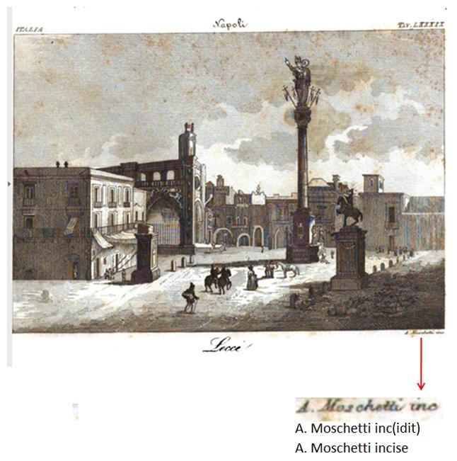 Lecce, piazza S. Oronzo e un'altra incisione ottocentesca