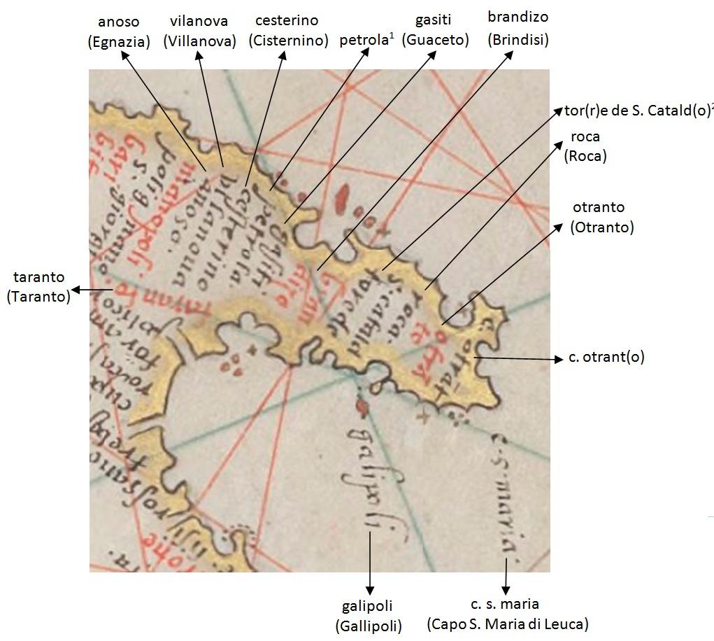 La Terra d'Otranto in un portolano del 1572