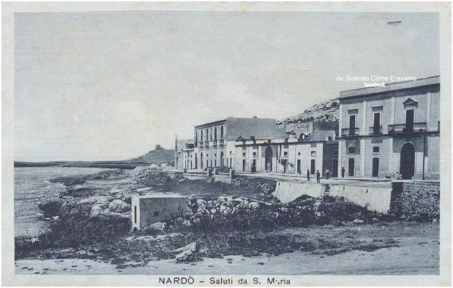 Nardò, S. Maria al Bagno: via Emanuele Filiberto ieri e oggi.