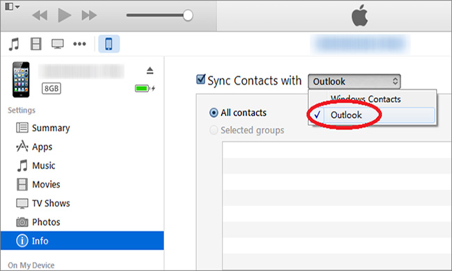 How to Sync Outlook Contacts to iPhone