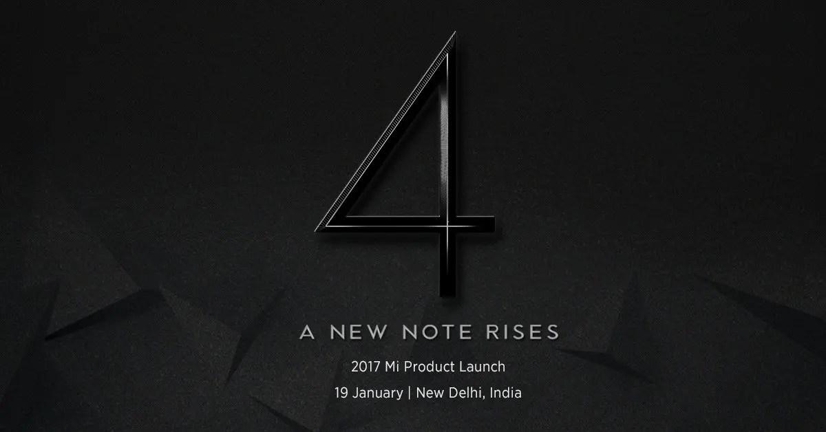 Xiaomi Redmi Note 4 launch on 19 Jan in India