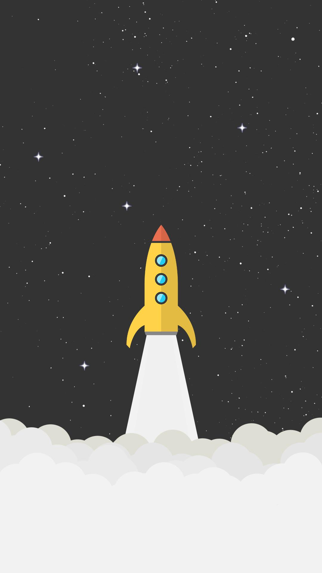 3d Wallpaper Amazon Fire Phone Rocket Space Minimal Background Hd Wallpaper