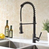 Jiguani Oil Rubbed Bronze Kitchen Sink Faucet