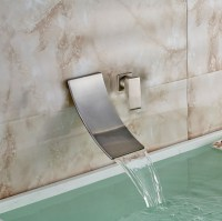 Bilbao Wall Mounted Brushed Nickel Single Handle Waterfall ...