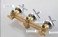 3-Handles 2-way Bathroom Shower Valve In-wall Mixer Valve ...
