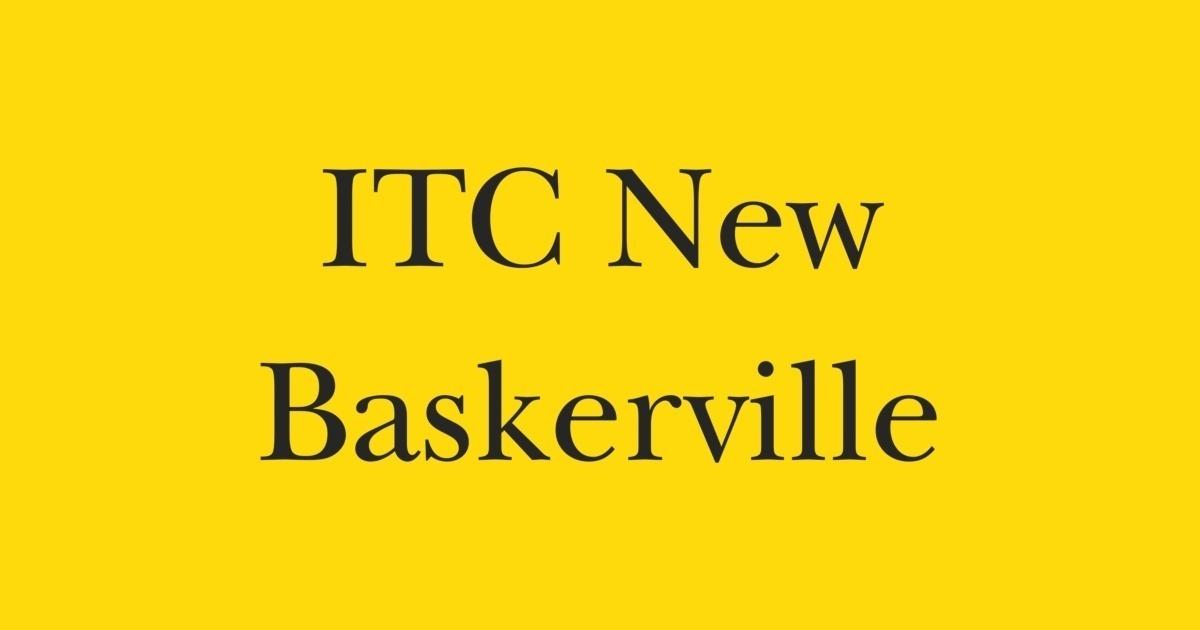FontShop ITC New Baskerville