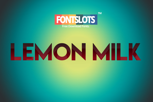 Lemon Milk Free Font Download
