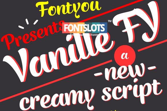 Vanille fy Font