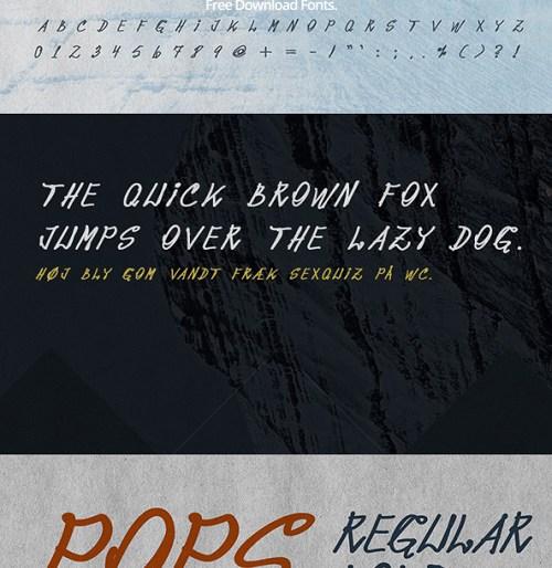 Pops Font