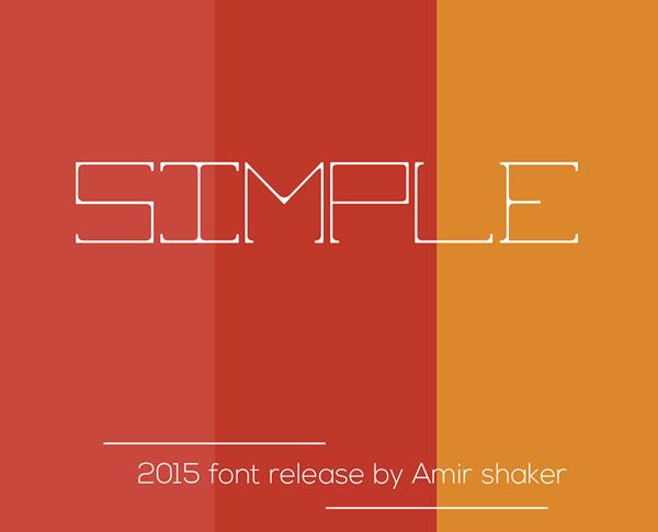 Simple Font