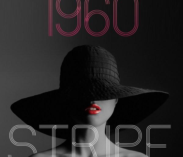 60s Stripe Font