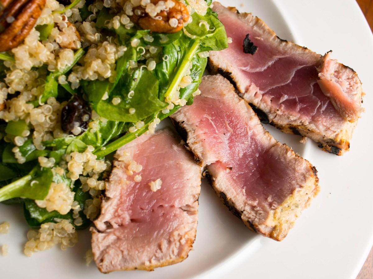 Grilled Lemon Tarragon Tuna - Food & Fire