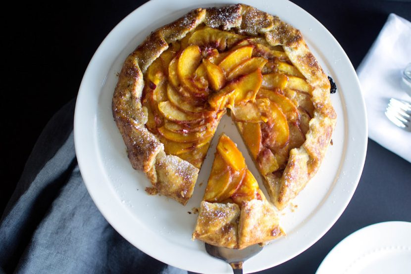 Nectarine and Almond Galette