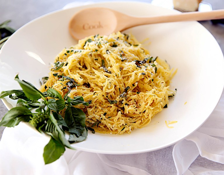 Spaghetti Squash with Fresh Herbs and Garlic