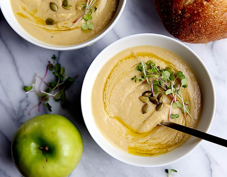 Roasted Parsnip and Apple Soup