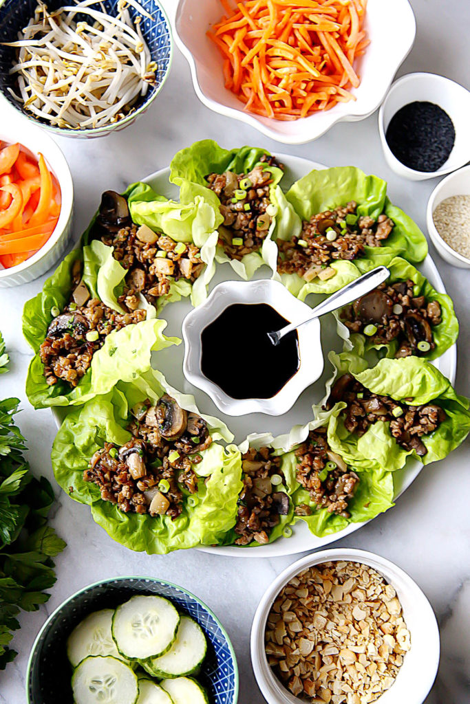 Lettuce Wraps with Roasted Mushrooms