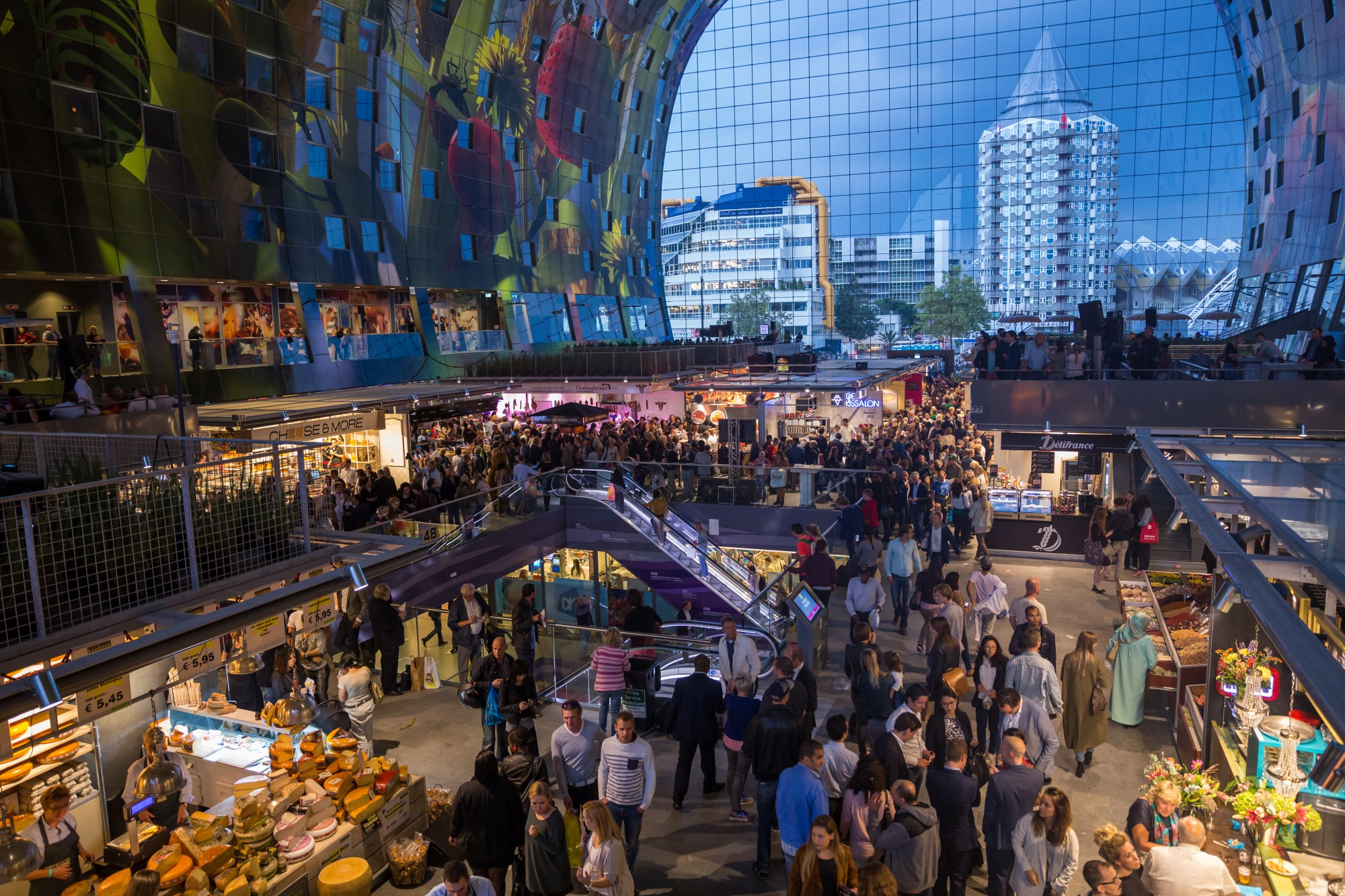 The New Rotterdam Indoor Food Market And Wine Gazette