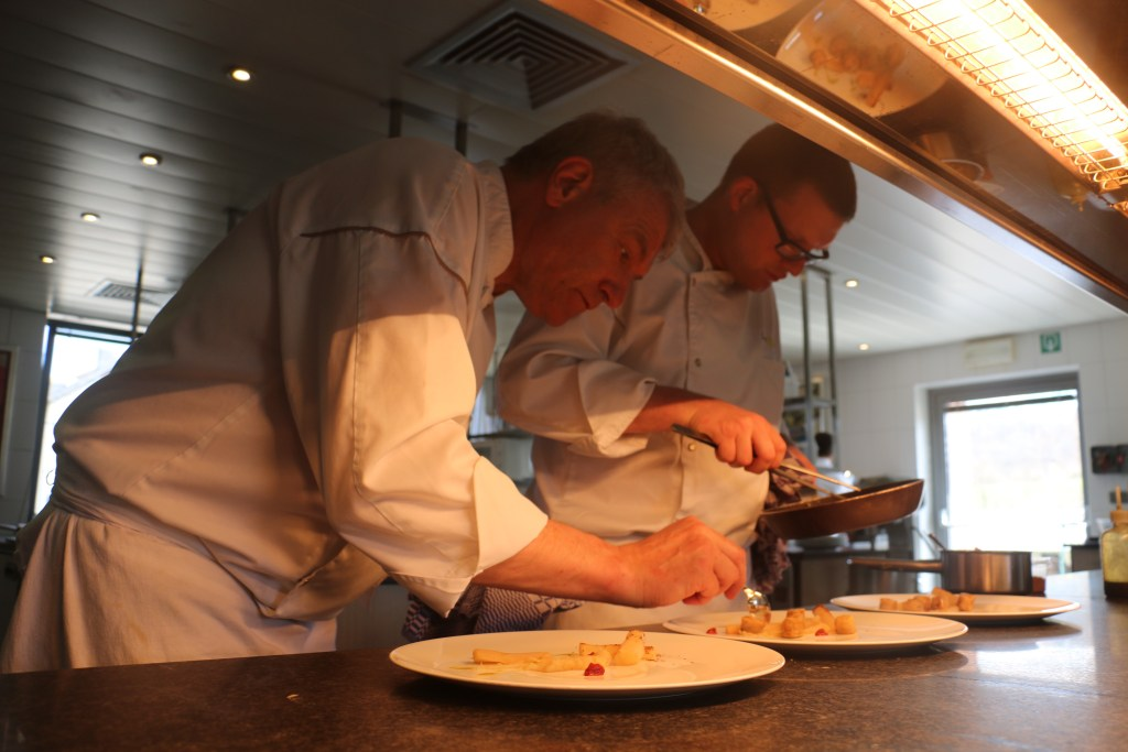 Father and son Eric and Tristan Martin work in symphony at Maison Lemonnier