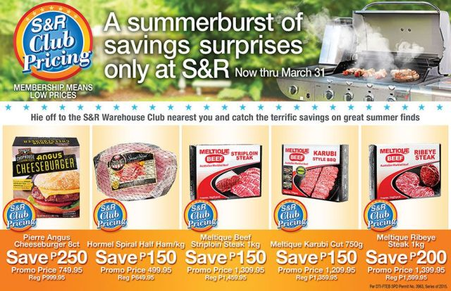 S&R Summer Promo on Frozen Items until March 31, 2015