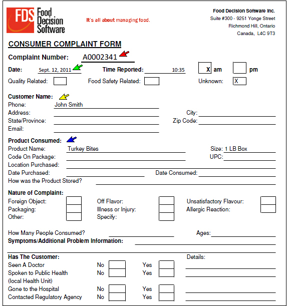 Sample Consumer Complaint Form Sample Consumer Plaint Form Sample - consumer form