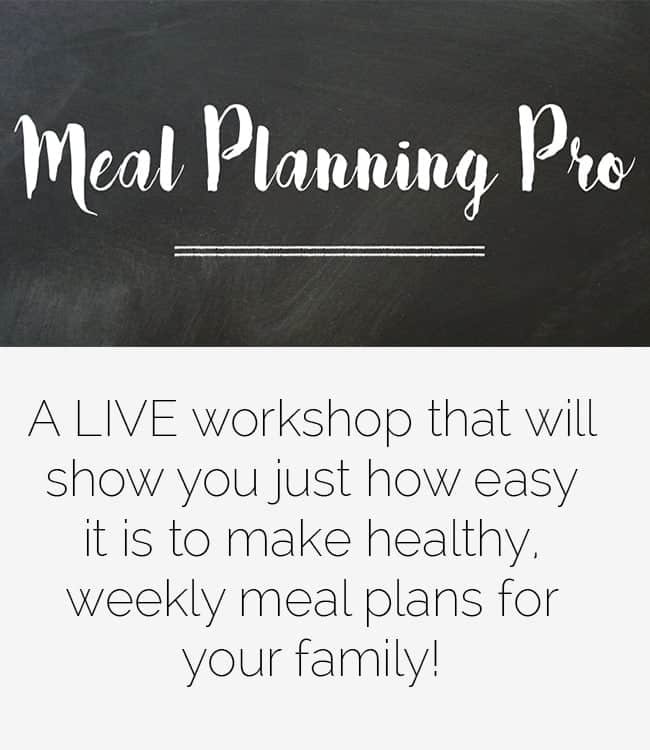 The Meal Planning Pro Live Workshop! - Food Faith Fitness