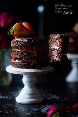 Innovative Two Food Faith Fitness Two This Mini Strawberry Gluten Freechocolate Cake Recipe Makes Strawberry Gluten Free Chocolate Cake Mini Strawberry Chocolate Cakes