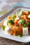 salade feta melon coriandre