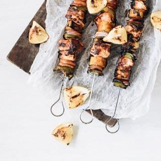 BBQ Hawaiian Chicken Skewers - The Food Gays