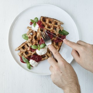Lemon Ricotta All-Bran® Cereal Waffles