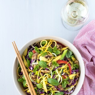 Zucchini Noodle Salad - The Food Gays